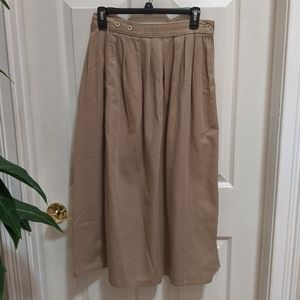 Calvin Klein Sport Tan Denim Skirt Women's Size 10